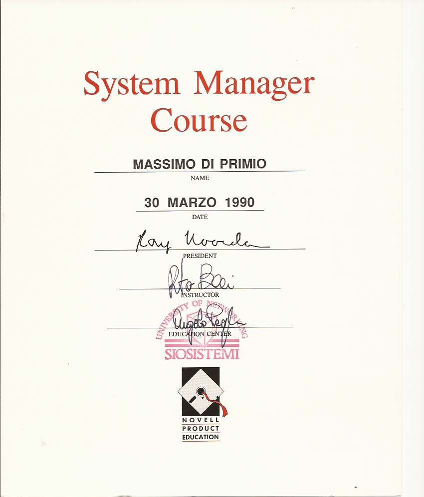 Novell 1990 Sysmanager