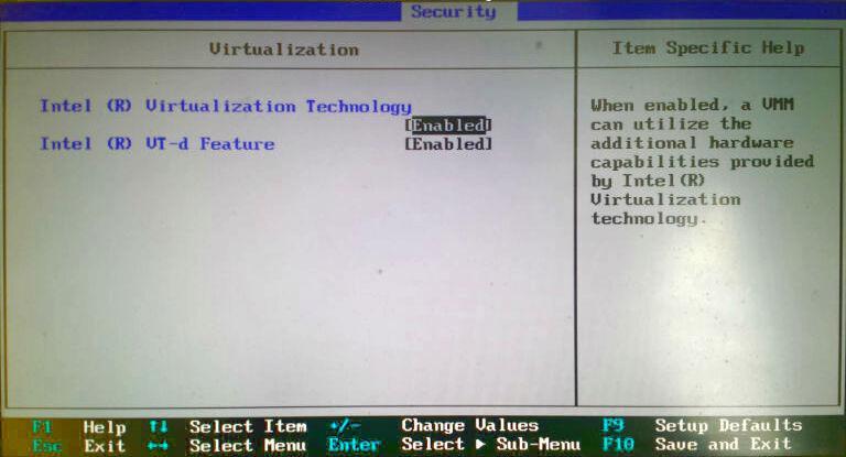 Setup del BIO del PC
