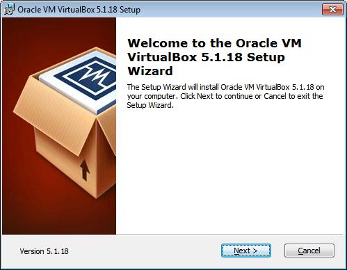 """Schermata di """"Welcome"""" dell'installazione"""