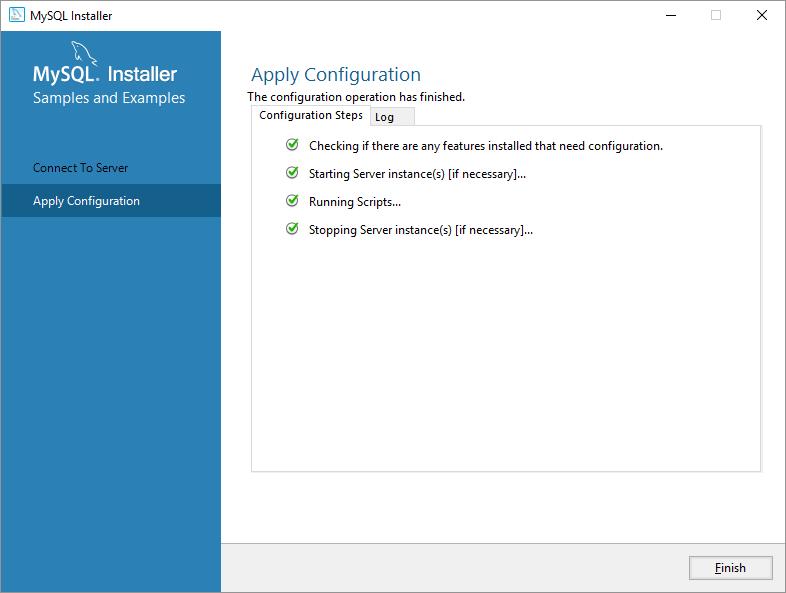 mysql on windows configurazione server applica ok