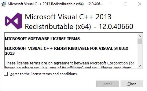 mysql on windows installazione requirement