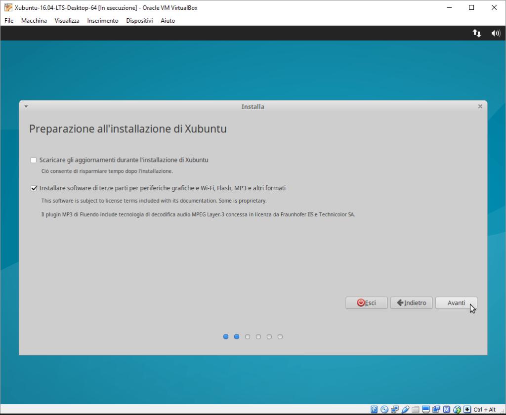 Installazione Xubuntu passo 2