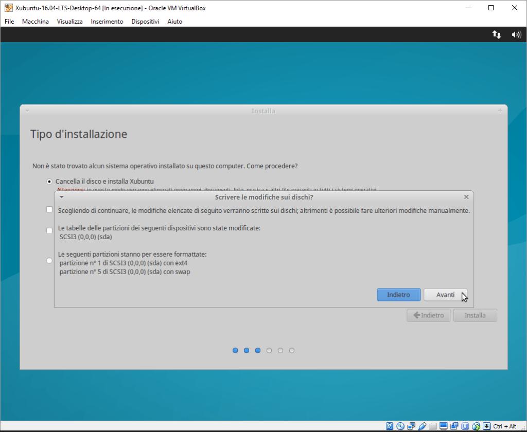 Installazione Xubuntu passo 4