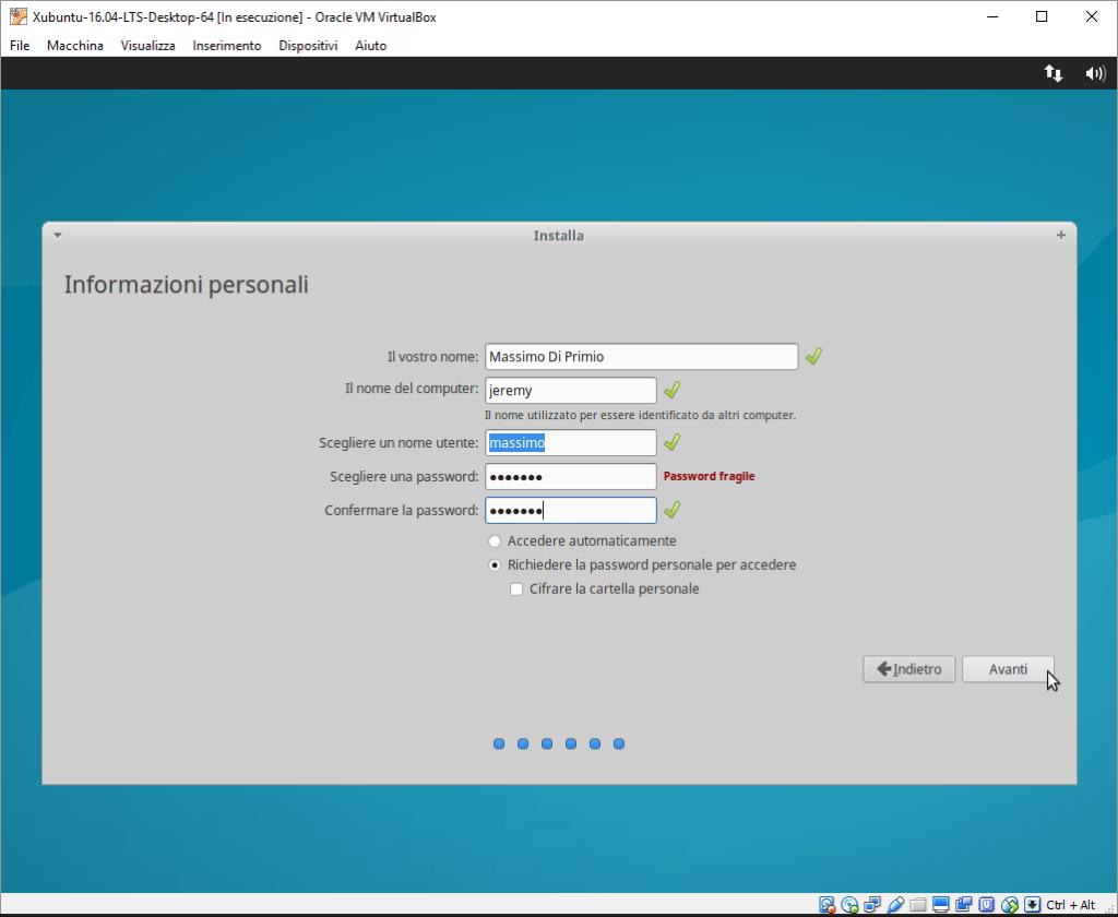 Installazione Xubuntu passo 7