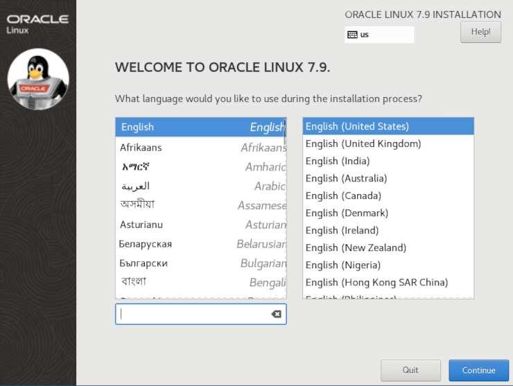 Immagine di installazione Oracle Linux